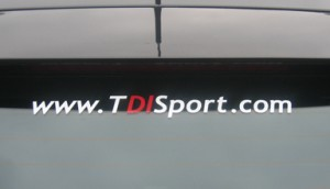 TDISport Window Sticker