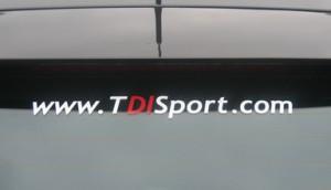 TDISport Window Sticker